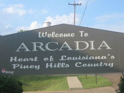 Arcadia Welcoming Sign