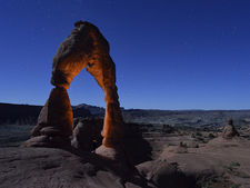 Arch At Night, Arches National Park, Utah