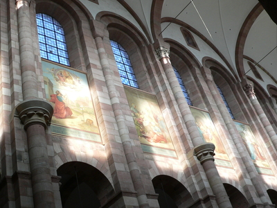 Architectural Details Of The Nave And Paintings