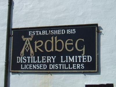 Ardbeg Sign At Distillery