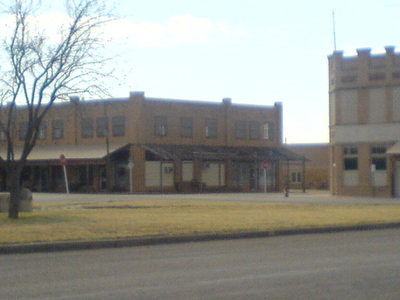 A Row Of Buildings In Aspermont
