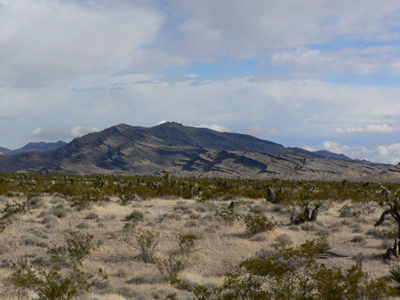 Arrow Canyon Range Seen From The South