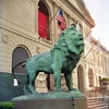 Art Institute Of Chicago Lion Statue