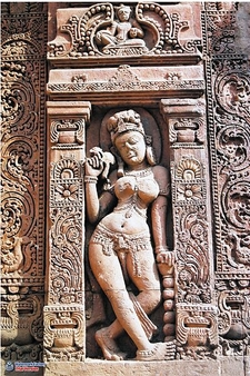Artwork On Lingaraj Temple