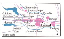 Asansol Map