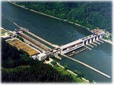 Aschach Power Station On The Danube
