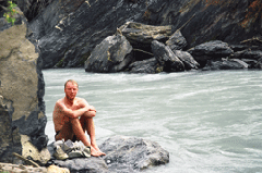 Ashley Alongside Zanskar River