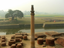 Ashokan Pillar At Vaishali - Bihar - India
