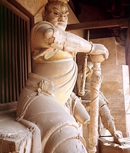 A Statue Inside The Shuanglin Temple In Pingyao