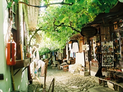 A Street In Historical Shoe Makers Market