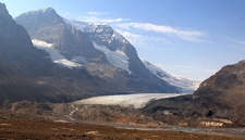 Athabasca Glacier From The Icefields Highway