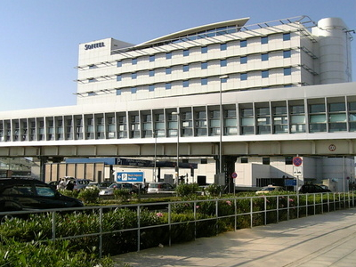 Athens International Airport Footbridge And Hotel