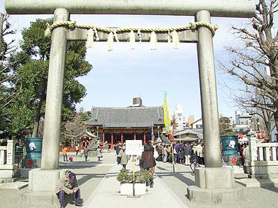 A Torii Leading The Way To Asakusa Shrine