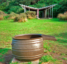 A Trypot Used During The Whaling Period On Kapiti Island