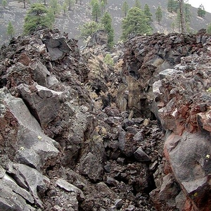 At The Squeeze-Up On The Lava Flow Trail