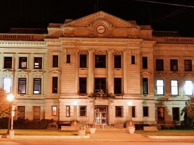 Auburn  Indiana  Courthouse  Night