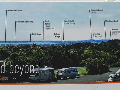 Auckland Visitor Centre Board Display