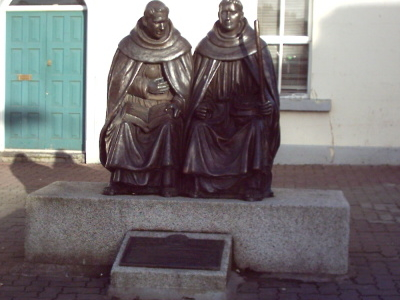 Statue Commemorating The Austin Friars