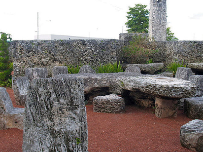 A View From Within Leedskalnin's Coral Castle