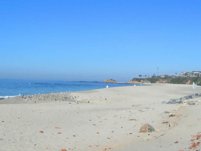 A View Of Aliso Creek County Beach