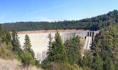 A View Of Bullards Bar Dam And Reservoir From Marysville Rd