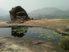 A View Of Ruined Buddhist Temple On Hilltop At File