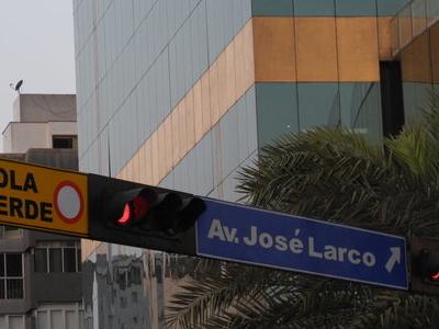 Av  Jose Larco Street Sign