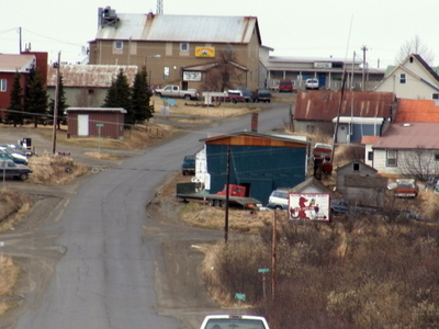A Westward View Of Downtown Naknek In The Summer.