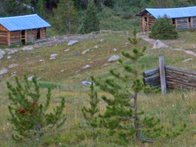 Some Of The Remaining Log Cabins