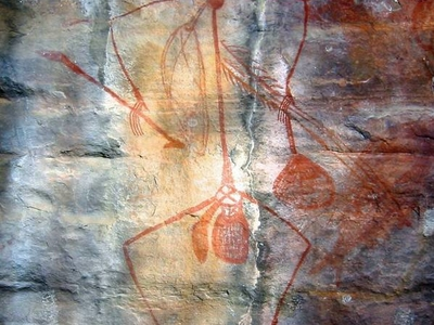Rock Art Painting At Ubirr