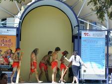 Australian Aborigines Performing At Crown Street Mall