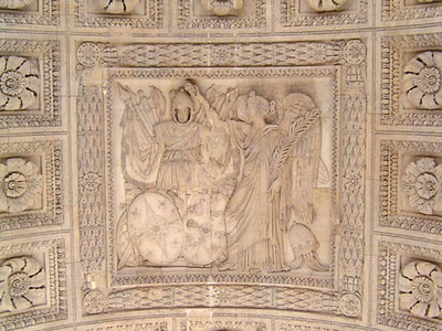 Central Bas-Relief Under The Main Arch
