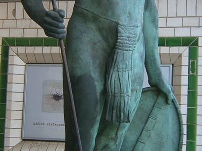 Sculpture Of African Warrior