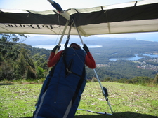 A Hang Glider Prepared For Flight