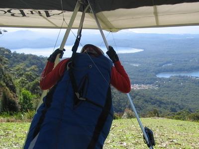 A Hang Glider Prepared For Flight