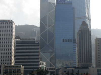 AIA Central Amongst The Hong Kong Skyline