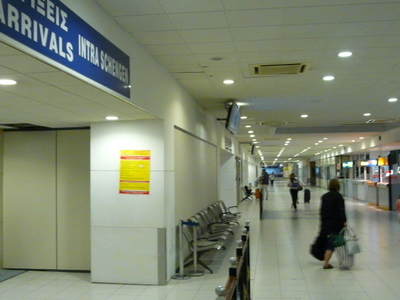 Rhodes Airport International Arrivals Terminal