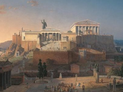 Reconstruction Of The Acropolis And Areios Pagos