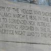 Close Up Of The Inscription On Alamo Cenotaph