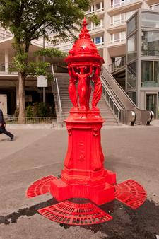 A Large Model Painted Redat Avenue Divry