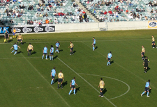 Playing Newcastle At Canberra Stadium