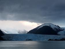 Amalia Glacier With Reclus Behind