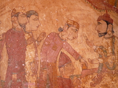 Ancient  Wall  Painting On  Shiva  Temple