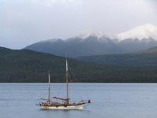 Boat In Lake Te Anau