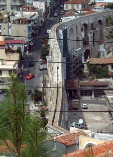 The Kavala Aqueduct View From Above