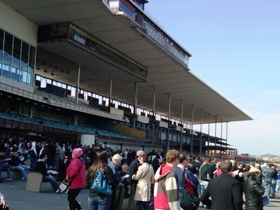 Grandstand At Aqueduct Racetrack