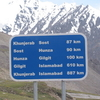 A Road Sign On Way To Khunjerab