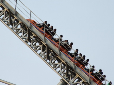An Ascending Train At Thunder Dolphin