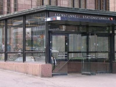 Rautatientori Metro Station Entrance
