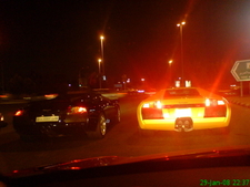 Two Lamborghini Murcielago In A Street